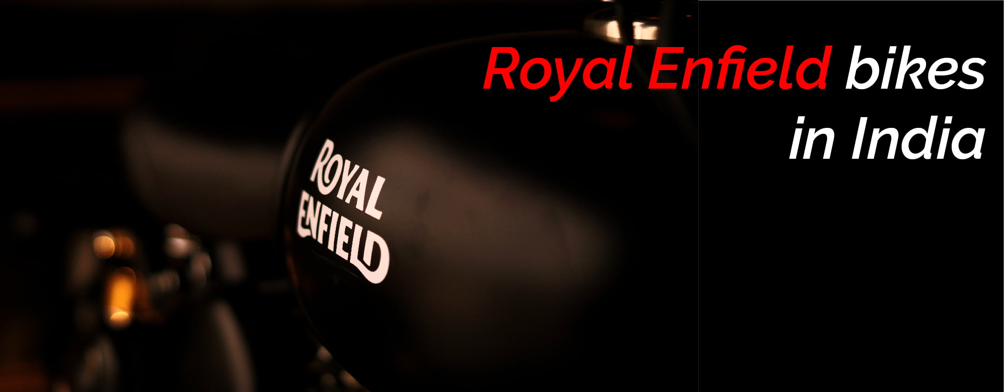 Royal Enfield bikes in India